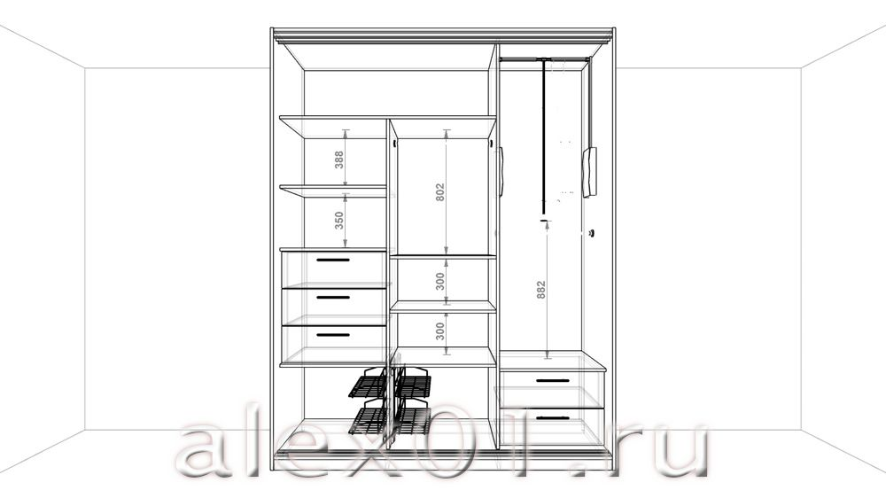 Как сделать шкаф-купе проекты 875