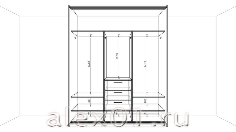 Шкафы в спальню с схемами