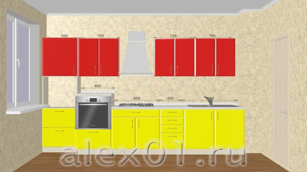 Кухонный гарнитур 3 на 3 метра дизайн